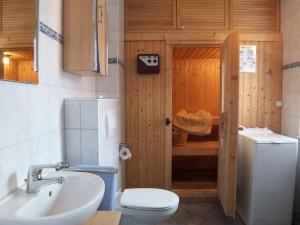 Haus Meeresbrise - Bad unten mit Sauna